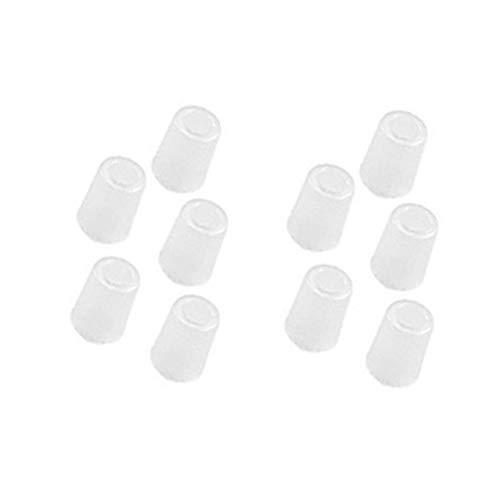 10 Stücke Mundstück Einweg-entfernbare Mundstücke für Alkohol Tester AT6000 (Weiß)
