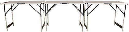Hochwertiger Tapeziertisch mit extra dicker Tischplatte, höhenverstellbare Füße, 3-teilig,...