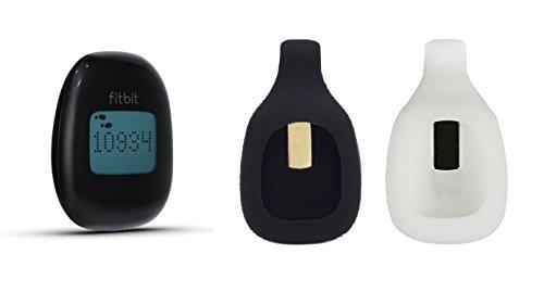 BlueBeach® 2 Stück Ersatz Clip Halter für Fitbit ZIP Activity Tracker - (Schwarz und Weiß) - Original Zip