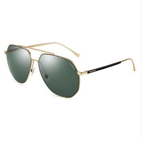 Fahrer Tinte (KOMNY leichte Nylon Nylon - Sonnenbrille, männliche metallrahmen Fahrer Fahren Sonnenbrille 8173 goldrahmen, grüne Tinte Film)
