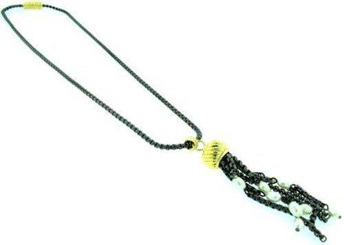 mundo-plata-mujer-inspirado-negro-cable-colgante-con-borla-y-sintetico-collar-de-perlas