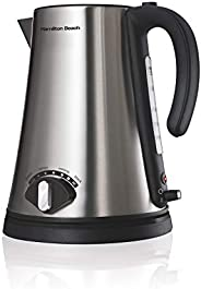 Hamilton Beach 1.7L Variable Temperature Electric Kettle for Tea and Water, Rapid Boil, Auto-Shutoff and Strix