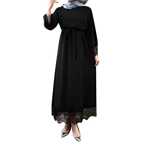 WUDUBE Mode Frauen Muslimische Robe, Dubai Ramadan Kaftan Marokkanischen Moslemisches Kostüm Abaya Islamische Kleidung Chiffon Langarm (Frauen Kleider Großhandel)