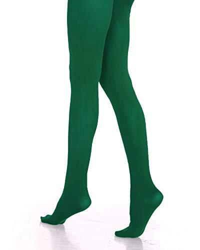 (Lady Sofia klassische Strumpfhose, 100 Denier, weiche Mikrofaser, blickdicht, Größen S-M-L-XL, verschiedene Farben. Gr. M, dunkelgrün)