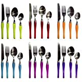 SHOPEE 25PCS PIECES STAINLESS STEEL CUTLERY SET KITCHEN DINING TABLEWARE WITH Big STAND (color May Very)