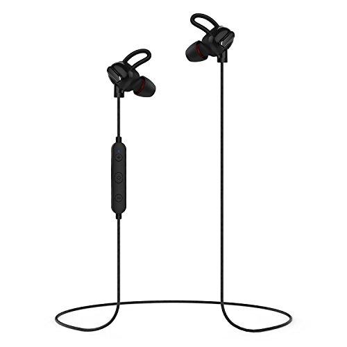 Auriculares Bluetooth, Techvilla Tune 2 Bluetooth 4.1 Auriculares Inalámbrico Estéreo con Micrófono, Funcionamiento Ligero, Funciona con iPhone , los Móviles de Android y iPad (Negro)