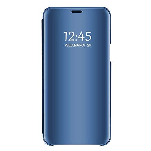Custodia per samsung s6, mirror flip smart litetettiva iimpermeabile color cover per samsung s6/s6 edge (s6 edge, blue)