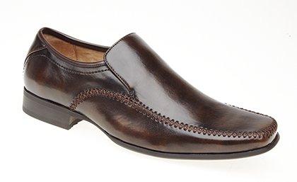 Novo Sapatos Couro Inteligentes Homens Formais Alinhados Escritório Dos Marrom Deslizamento Sapatos Casuais pB4qYw