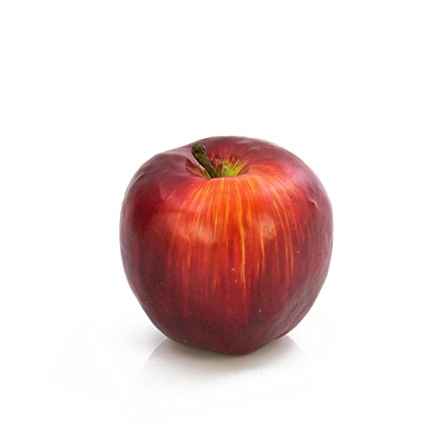 artplants Set 3 x Künstlicher Apfel dunkelrot, 6 cm, Ø 6,5 cm - 3 Stück Kunst Obst/Dekoobst -