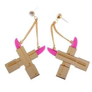 Electroprime® Acrylic Drop Lipstick Dangle Drop Earrings Fashion Jewellery for 's Party