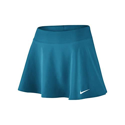 Nike Damen Court Flex Pure Skirt Flouncy Women Röcke, türkis, L Court Womens-rock
