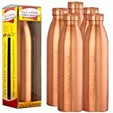 Dr. Copper World's First Seam Less Copper Water Bottle,1 LTR, Set Of 6