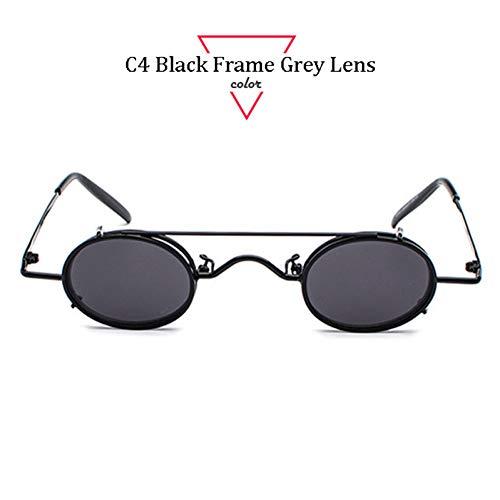 Kjwsbb Runde Metall Sonnenbrille Damenmode Beschichtung Brille Intage Retro