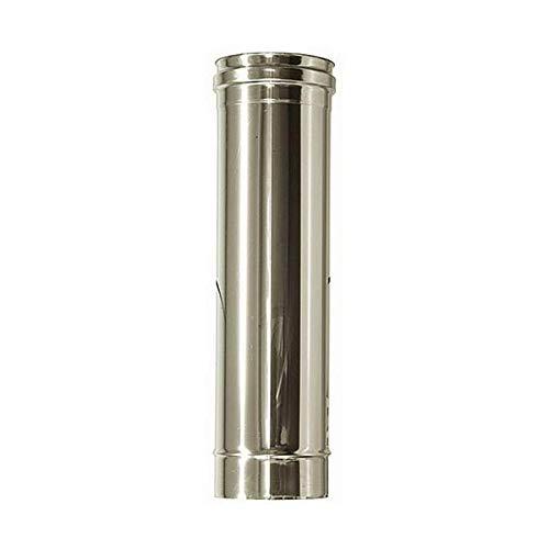 Canna fumaria DN 80 lunghezza 0.25 mt L 250mm tubo acciaio inox 316 INOX