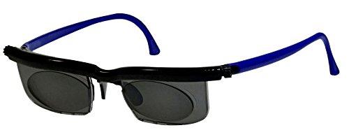 GKA Korrektions Sonnenbrille die Brille die sich anpasst Dioptrien einstellbar von -6 bis +3 Dioptrien Gleitsichtbrille Lesebrille Sonnenlesebrille Sonnengleitsichtbrille Korrektionsbrille (blaue Bügel)