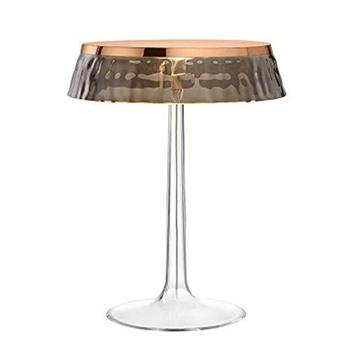 Flos Bon Jour Lampe de table avec structure cuivre et abat-jour fumé 220 Volt