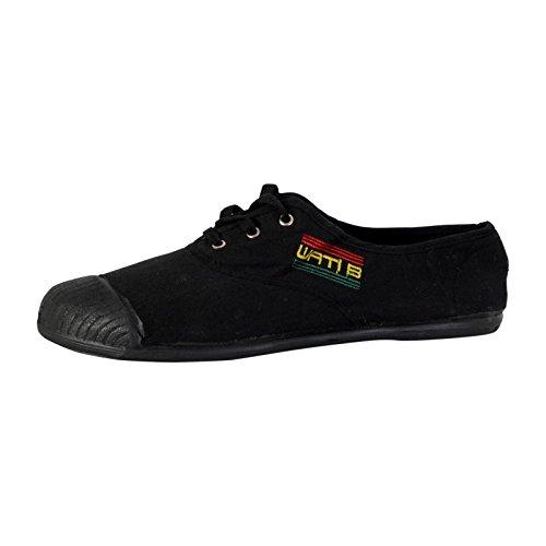 Basket Wati B Charlie Lacet Noir Mono Jamaïque Noir