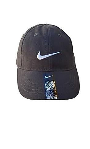 Logo Swoosh de Nike Bébé Garçon brodé Casquette de baseball en coton Sz 12/24M (Anthracite)
