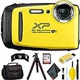FUJIFILM FinePix XP130 Digital Camera (Yellow) Pro Bundle