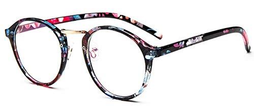 Sonnenbrille Brillen Gestell Frauen Transparente Runde Blume Brille Clear Frame Spektakel Gläser Männer Frame Nerd Optischen Rahmen Schwarz