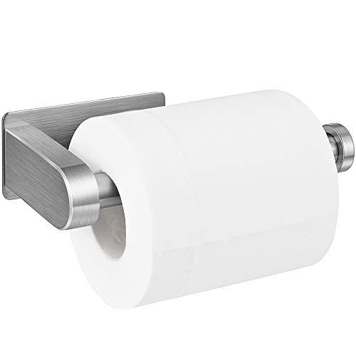 Toilettenpapierhalter Ohne Bohren, Aikzik® Selbstklebend Toilettenpapierrollenhalter Edelstahl Klopapierhalter Wc Halter Rollenhalter Klorollenhalter Papierhalter für Küche und Badzimmer