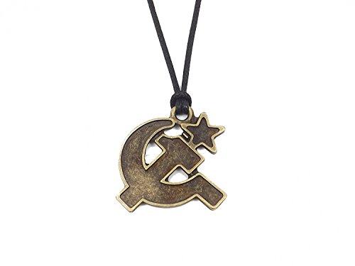 Gök-Türk Halskette für Herren Unisex mit Anhänger \'Hammer und Sichel\' - UdSSR (die Union der Sozialistischen Sowjetrepubliken)