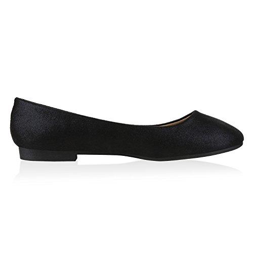 napoli-fashion , Ballerines femme Schwarz Black
