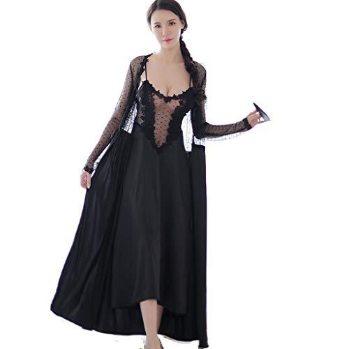 LANSEL Pyjamas Erotische Dessous Black Swan Princess Witch Perspective Nachthemd (Farbe : Schwarz, größe : ()