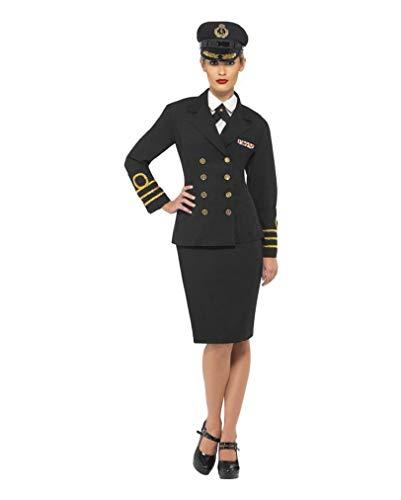 Kostüm Uniform Navy Officer - Horror-Shop US-Navy Offizier Damenkostüm L