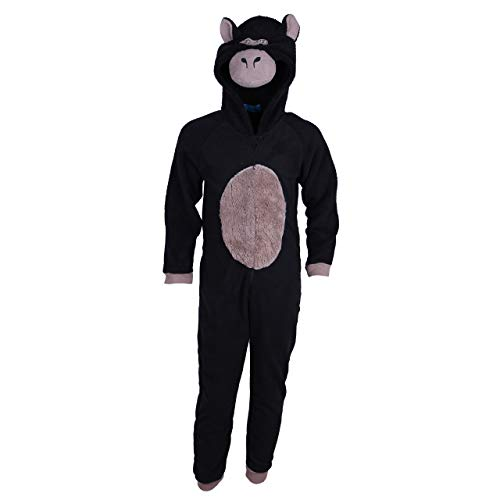 Junge SCHWARZ Gorilla Pajamas Schlafanzüge / Overall / Kostüm / Onesie 3-13 Jahre (7-8 Jahre 128 cm)