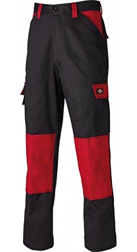 Dickies Everyday 24/7 Arbeitshose, passend zu SH2007 Shirts UVM (Schwarz/Rot, 50) -
