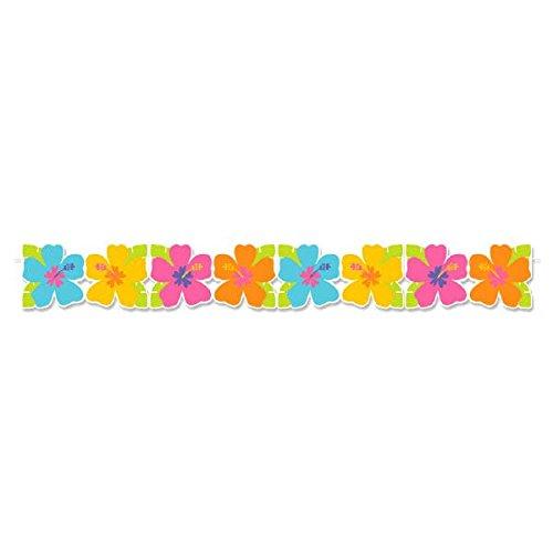 �m x 14cm Hawaii Hibiskus Papier Girlande ()