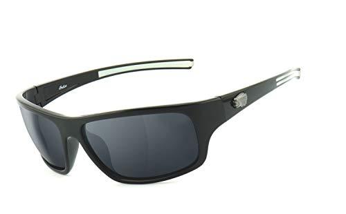 Preisvergleich Produktbild Indian Motorcycle / UV400 Schutzfilter,  HLT® Kunststoff-Sicherheitsglas nach DIN EN 166 / Bikerbrille / Brillengestell: schwarz hochglanz,  Brille: IN2025