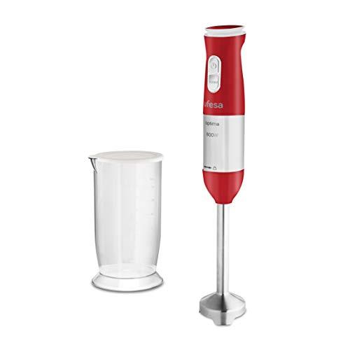 Ufesa BP4560 Optima Batidora Mano, 800 W, Plástico, 20 Velocidades, Rojo