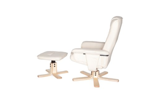 Amstyle Comfort Relaxsessel mit Hocker - 11