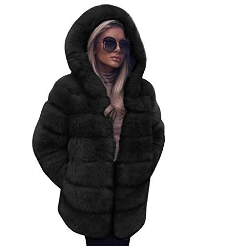 Vicgrey ❤ giacca scialle pelliccia sintetica donna casuale scialle elegante caldo cappotto invernale a maniche lunghe in pelliccia moda cardigan maglione felpa inverno