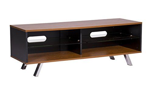 Mmt Wooden Tv Stand Cabinet Walnut Black For 32 Inch To 55 Inch Lcd Led Flat Screen Televisons, By Mmt