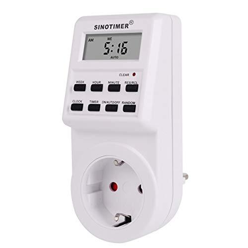 Gugutogo SINOTIMER Plug Digital Weekly Programmable Electrical Wall Plug-in Power Socket Timer Switch Outlet Time Clock 220V 110V AC -