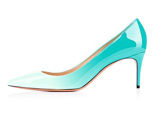 uBeauty Scarpe da Donna - Scarpe Col Tacco - Classiche Scarpe Col Tacco - Tacco a Spillo - 65 mm con Tacchi Alti Verde chiaro