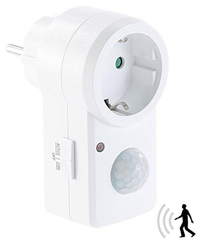 revolt Stecker Bewegungsmelder: Steckdose mit PIR-Bewegungsmelder, 1.200 Watt Schalt-Leistung (Sensor Steckdose)