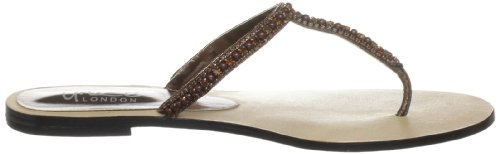 Unze Evening Slippers, Damen Slipper Braun (L18339W)