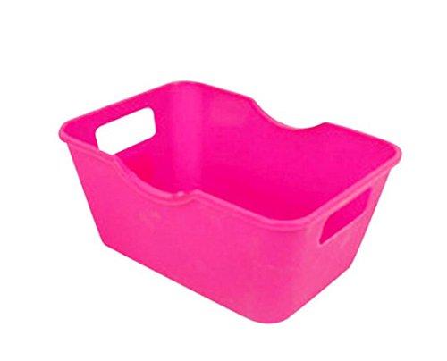 Kunststoff Aufbewahrungsboxen, Kids Toys bruchstückhafte Make-up Socken Stationery Organizer Büro Desktop Tisch Badezimmer Schrank Aufbewahrung Mülleimer hot pink (Kleine Aufbewahrungsbox Kids)