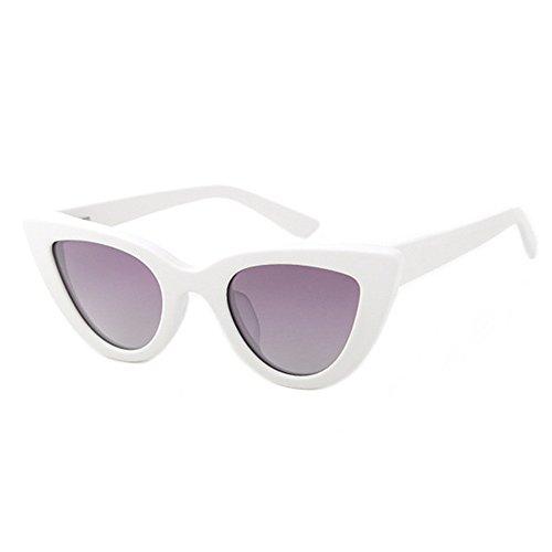 Sonnenbrillen Mode Frauen Sonnenbrillen Persönlichkeit Kleine Katzenaugen Polarisierte Sonnenbrille Acetat Faser Rahmen TAC Objektiv UV Schutz Fahren Party Urlaub Sonnenbrille ( Farbe : Weiß )