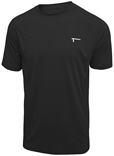 TREN Herren COOL Premium Performance Vent SS Tee Funktionsshirt T-Shirt Kurzarm Schwarz 001 - L - Performance Tee