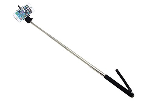 Iphone Foto Selfie Stick Einhandstativ Mit Adajustable Handy-Halter- Handheld-Stick für iPhone 5/5s Samsung Blackberry-Kamera