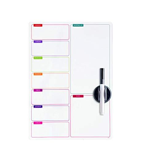 Balvi - Shopping List Tableau magnétique. Idéal pour la Porte du frigo. Inclut Le marqueur et l'éponge. Taille 42x29 cm.
