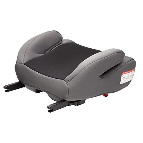 Clamaro \'Guardian Mini\' Autositzerhöhung mit Isofix, Autositz der Gruppe 3 (22-36 kg) ECE R44/04, Sitzerhöhung bequem gepolstert mit Armlehnen, passend für Autos mit oder ohne Isofix - Schwarz/Grau