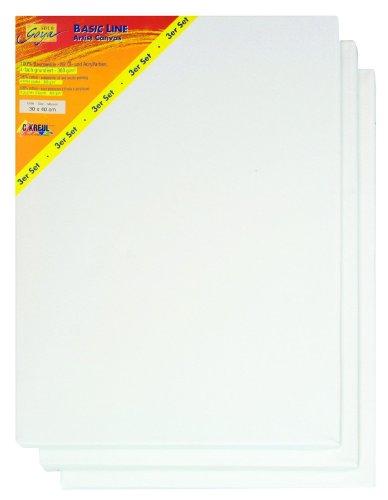 Solo Goya 633040 - Basic Line Keilrahmen, 30 x 40 cm, 3-er Packung