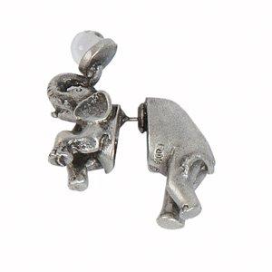 Talisman medallonque pendientes/Pass Thru n Talisman medallonque pendientes Elefant (2,6 x 3,2...