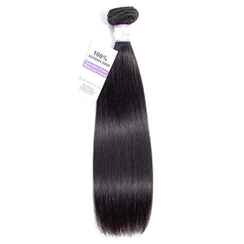 Natürliche Haarteile Malaysian Straight Hair Bundles 8-30 Zoll 100% Echthaar Weben Natürliche Farbe Nicht Remy Haarverlängerung 1 Stücke Perücken (Stretched Length : 24inches) (30-menschenhaar-erweiterungen)